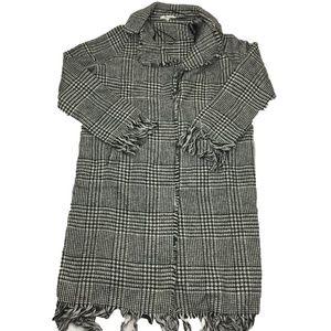 Willow & Clay Tressie Houndstooth Coat Jacket Sz S